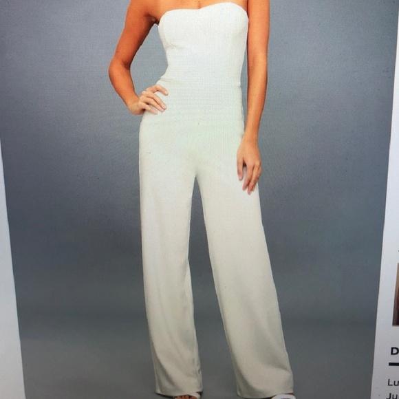 ef6e5855300 -Lulu s Edith Crisp White Strapless Jumpsuit